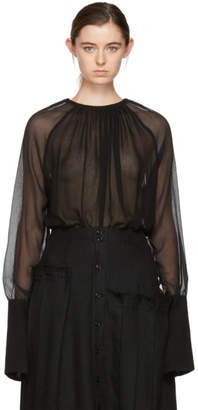 Ann Demeulemeester Black Sheer Mclottie Blouse
