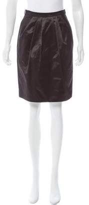 Max Mara Satin Knee-Length Skirt w/ Tags