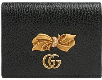 Gucci Leather card case with bow