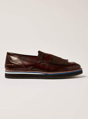 Topman Burgundy Prism Loafers