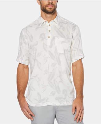 Cubavera Men Four-Button Tropical Short-Sleeve Shirt