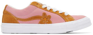 Converse Pink and Orange GOLF le FLEUR* Edition GOLF 6.1 One Star Sneakers