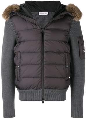 Moncler padded fur jacket