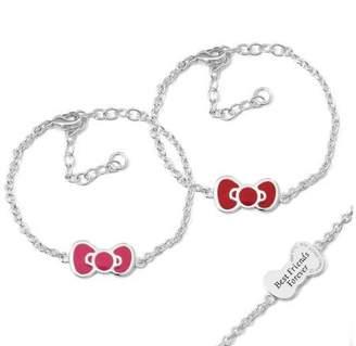 Hello Kitty Fine Silver-Tone Bow Bracelets, 2-Piece