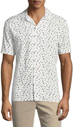 Neiman Marcus Short-Sleeve Printed Sport Shirt