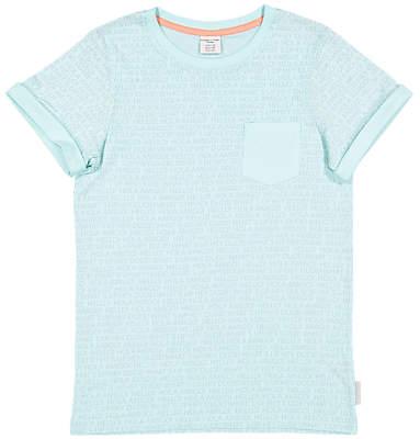 Polarn O. Pyret Children's Hello Print T-Shirt, Blue