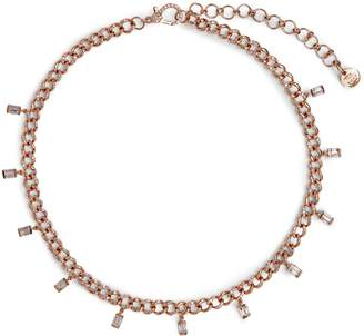 Shay Rose Gold and Diamond Sticks and Stones Baguette Drop Link Choker