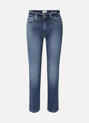Frame Le Sylvie High-rise Slim-leg Jeans - Light denim