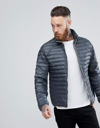 Hunter Padded Mid Layer Jacket in Gray