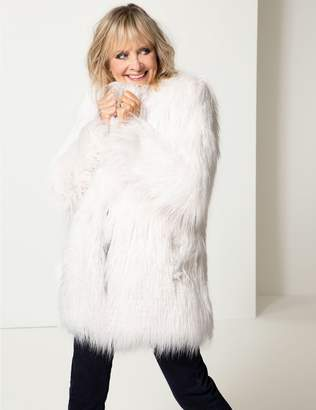Marks and Spencer Textured Faux Fur Coat