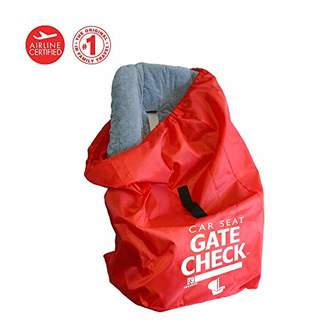J L Childress Gate Check Bag for Car Seats for Newborn and Above (Red)