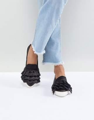 Miss KG Livia Satin Ruffle Sneakers