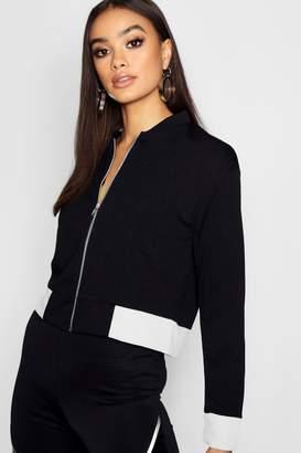 270f7f650ac boohoo Black Bomber Jackets For Women - ShopStyle UK