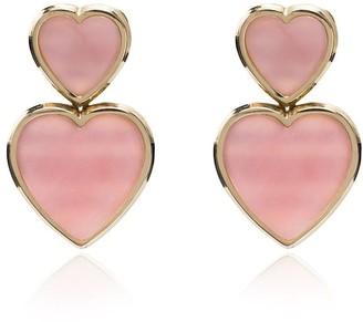 Retrouvai opal heart earrings