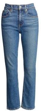RE/DONE Comfort Stretch Mid-Rise Crop Kick Flare