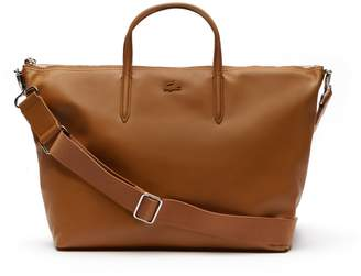 Lacoste Women's L.12.12 Large Leather Zip Tote