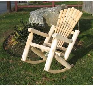 Adirondack Ski Chair Base ball Bat Solid Wood Rocking Chair Ski Chair