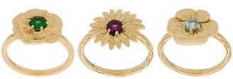 Aurelie Bidermann 18kt yellow gold Bouquet set of rings