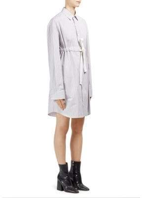 Roberto Cavalli Cotton Poplin Striped Dress