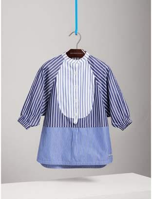 Burberry Contrasting Stripe Cotton Shirt Dress