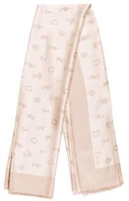 Christian Dior Jacquard Silk Scarf