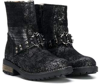 Roberto Cavalli zip-up studded ankle boots