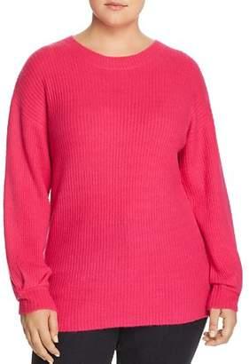 Glamorous CURVY Ribbed Pleat-Cuff Sweater