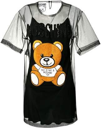 Moschino tulle Bear T-shirt dress