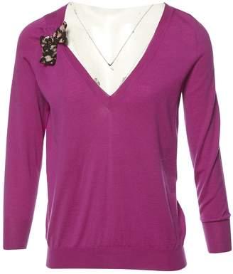 Louis Vuitton Purple Wool Knitwear