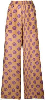 MM6 MAISON MARGIELA wide leg floral trousers