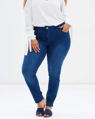 Evans Polka Dot Skinny Jeans