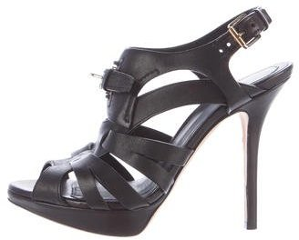 Christian Dior Caged Leather Sandals