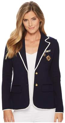 Lauren Ralph Lauren Crest Cotton-Blend Blazer Women's Jacket