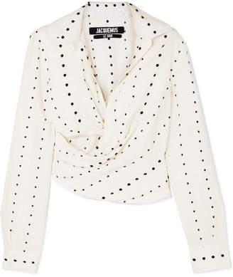 Jacquemus Nissa Cutout Fil Coupé Voile Shirt - White