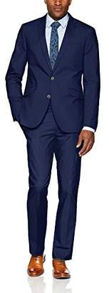 Kenneth Cole Reaction Men's Light Weight Cotton Suit with Hemmed Pant
