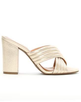 Daniel Footwear Daniel Galega Gold Quilted Heeled Mule