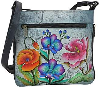 Anuschka Hand Painted Expandable Travel Crossbody