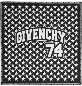 Givenchy - Printed Silk-twill Scarf 50x50 - Black $190 thestylecure.com
