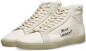 Saint Laurent SL-06 Mid Signature Canvas Sneaker