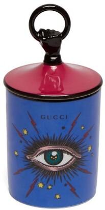 Gucci Fumus Star Eye Print Porcelain Candle - Blue Multi