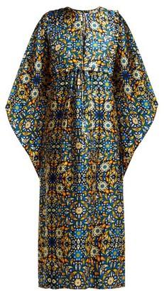 La DoubleJ Talitha Silk Katftan - Womens - Blue Print
