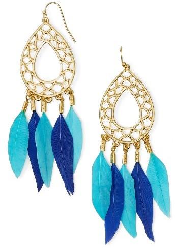 Women's Baublebar Feather Drop Earrings