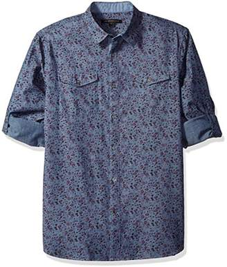John Varvatos Men's Long Sleeve Flroral Shirt