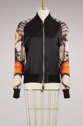 Givenchy Silk Bomber Jacket with Butterfly Print