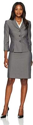 Le Suit Women's Houndstooth 3 Button Skirt