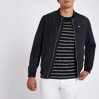 River Island Jack and Jones navy Alessio jacket