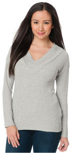 A Pea in the Pod Long Sleeve Pull Over Mock Layer Nursing Top