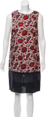 Balenciaga Sleeveless Floral Print Dress