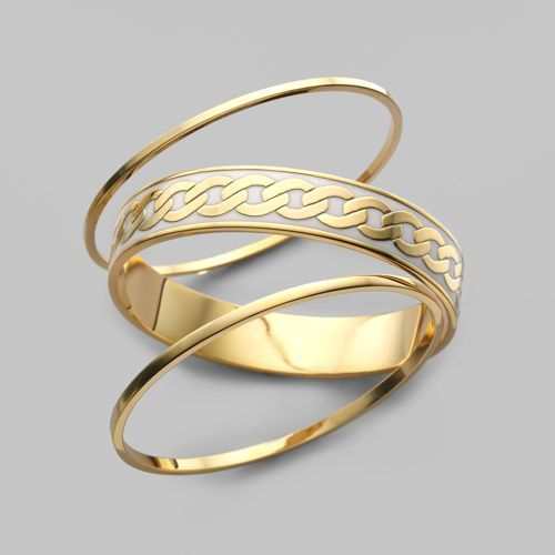 Juicy Couture Set of 3 Gold Bangles