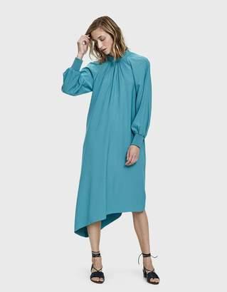 Tibi Buckle Asymmetrical Dress